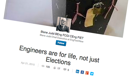 Blane's blog: Engineers are for life, not just for elections ()